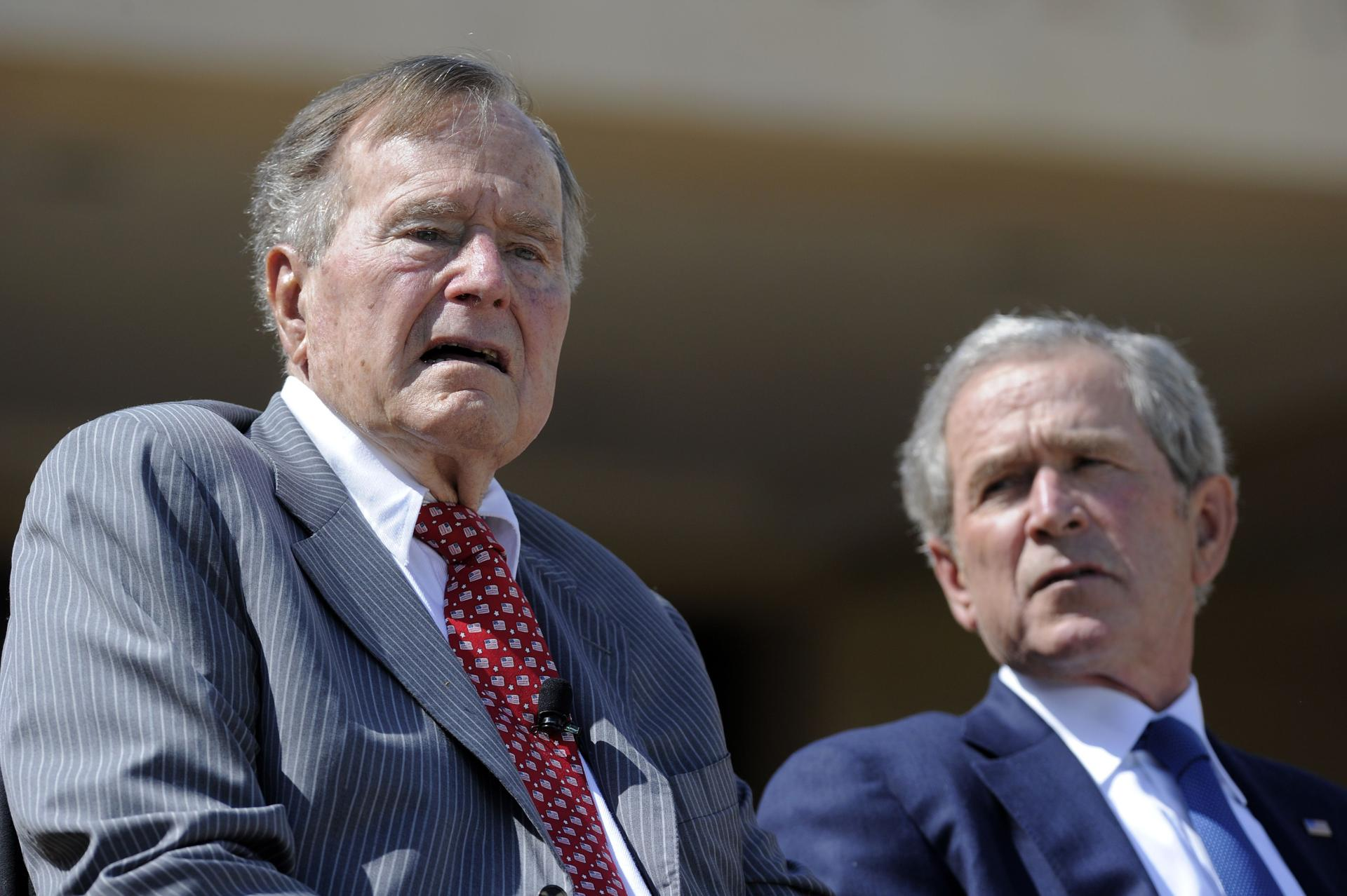 Former presidents George H.W. Bush and George W. Bush issued a joint statement Wednesday saying, ''America must always reject racial bigotry, anti-Semitism and hatred in all forms.''